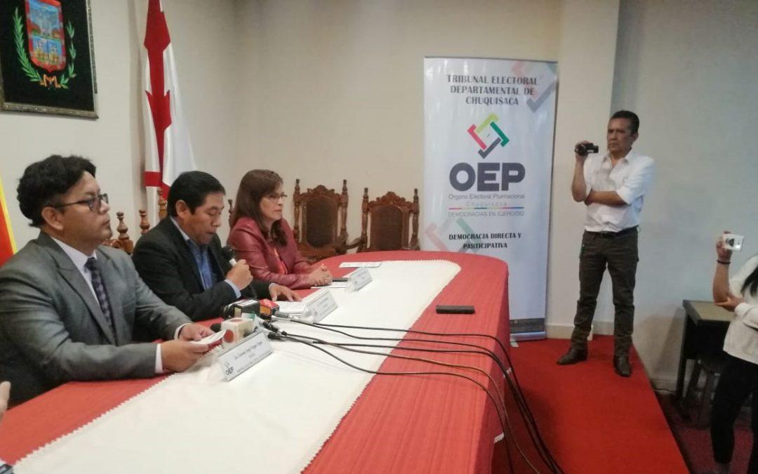 En Sucre, las organizaciones políticas firman un compromiso para cuidar el patrimonio histórico durante las Elecciones Generales